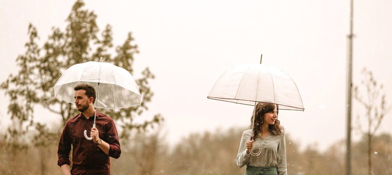 Pre-boda bajo la lluvia